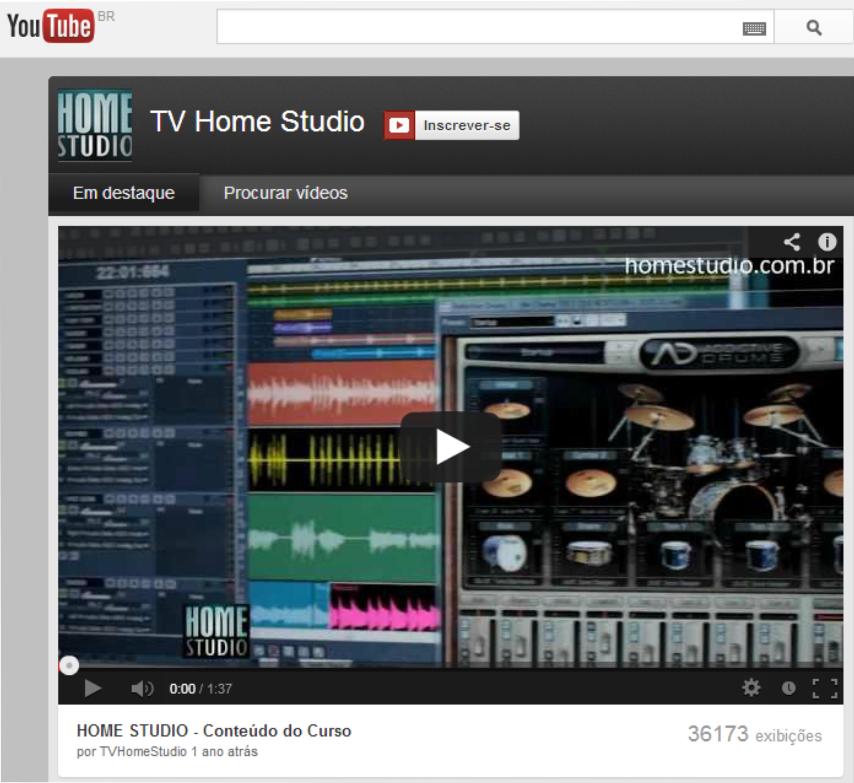 TV Home Studio - Nosso canal no YouTube